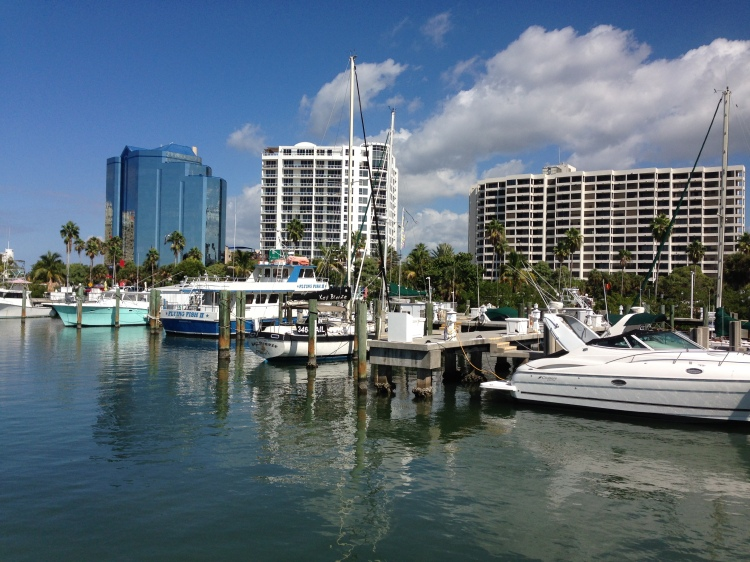 The marina in Sarasota, Florida provided the inspiration for the CW McCoy novels